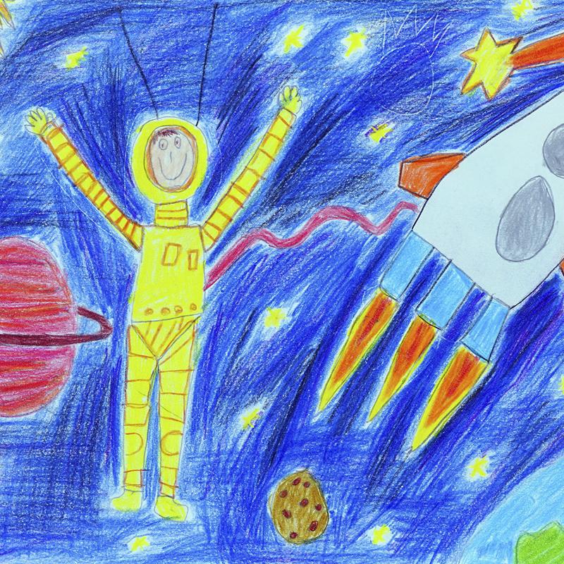 """""""Космически изследовател"""", Ивайло Губерков, 5 г., гр. Казанлък"""