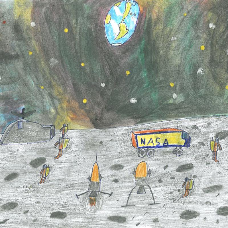 """""""Искам да бъда инженер-изследовател в база на Луната"""", Борислав Чордов, 7 г., гр. София"""
