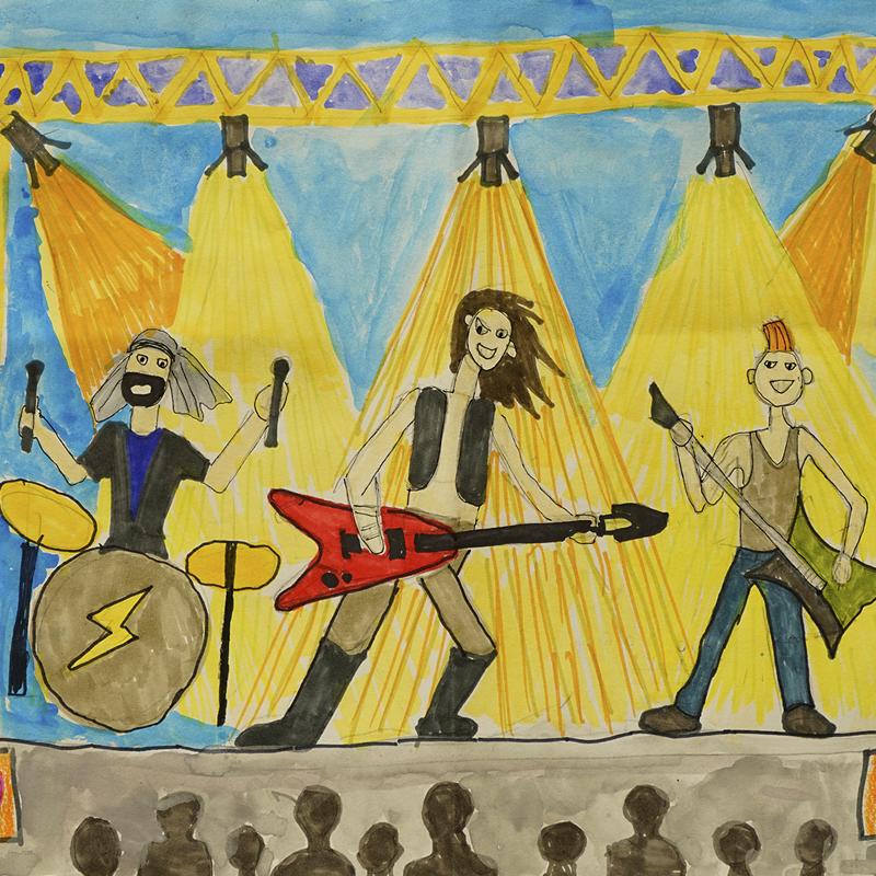 """2-ро място училища: """"Музикант - рок звезда"""", Кристиян Бяндов, 8 г., гр. Бургас"""
